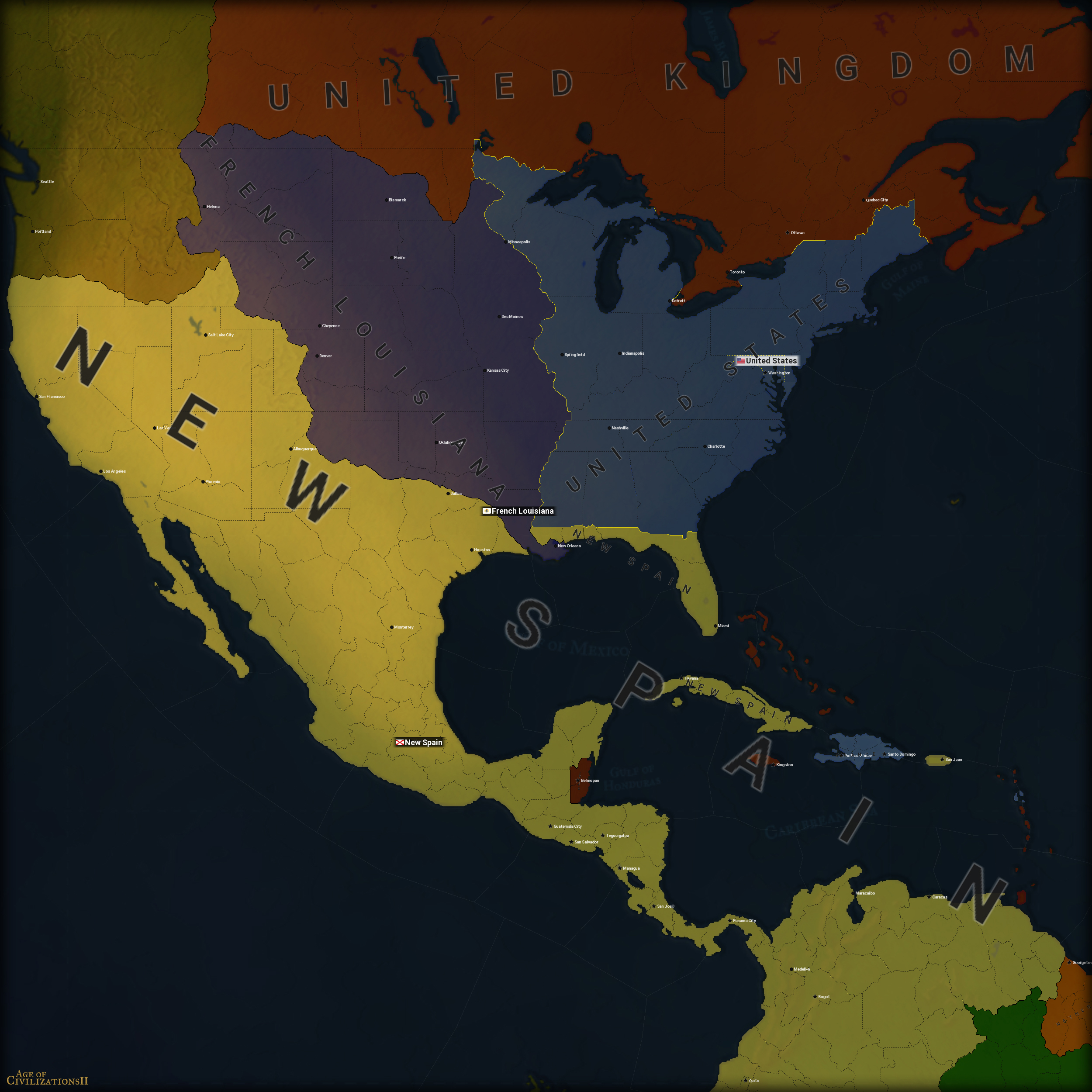 Age of Civilizations 2, North America 1803